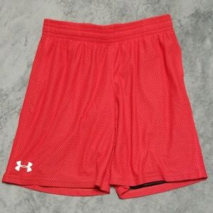 UNDER ARMOUR BOYS BASKETBALL MESH LINED SHORTS